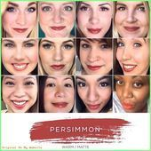 Lipsense Lip Colors 2019  Persimmon LipSense same color different people. www.facebook.com/  LiPiN #hair #love #style #beautiful #Makeup #SkinCare #Nails #beauty #eyemakeup #style #eyes #model #MakeupMafia #NaturalBeauty #OrganicBeauty