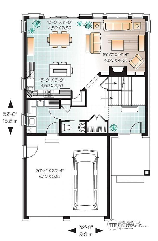 Discover The Plan 3889 Addison Which Will Please You For Its 4 Bedrooms And For Its American Styles Narrow House Plans Narrow Lot House Plans 4 Bedroom House Plans