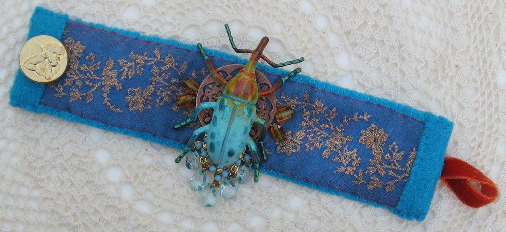 Blue Insect Bracelet