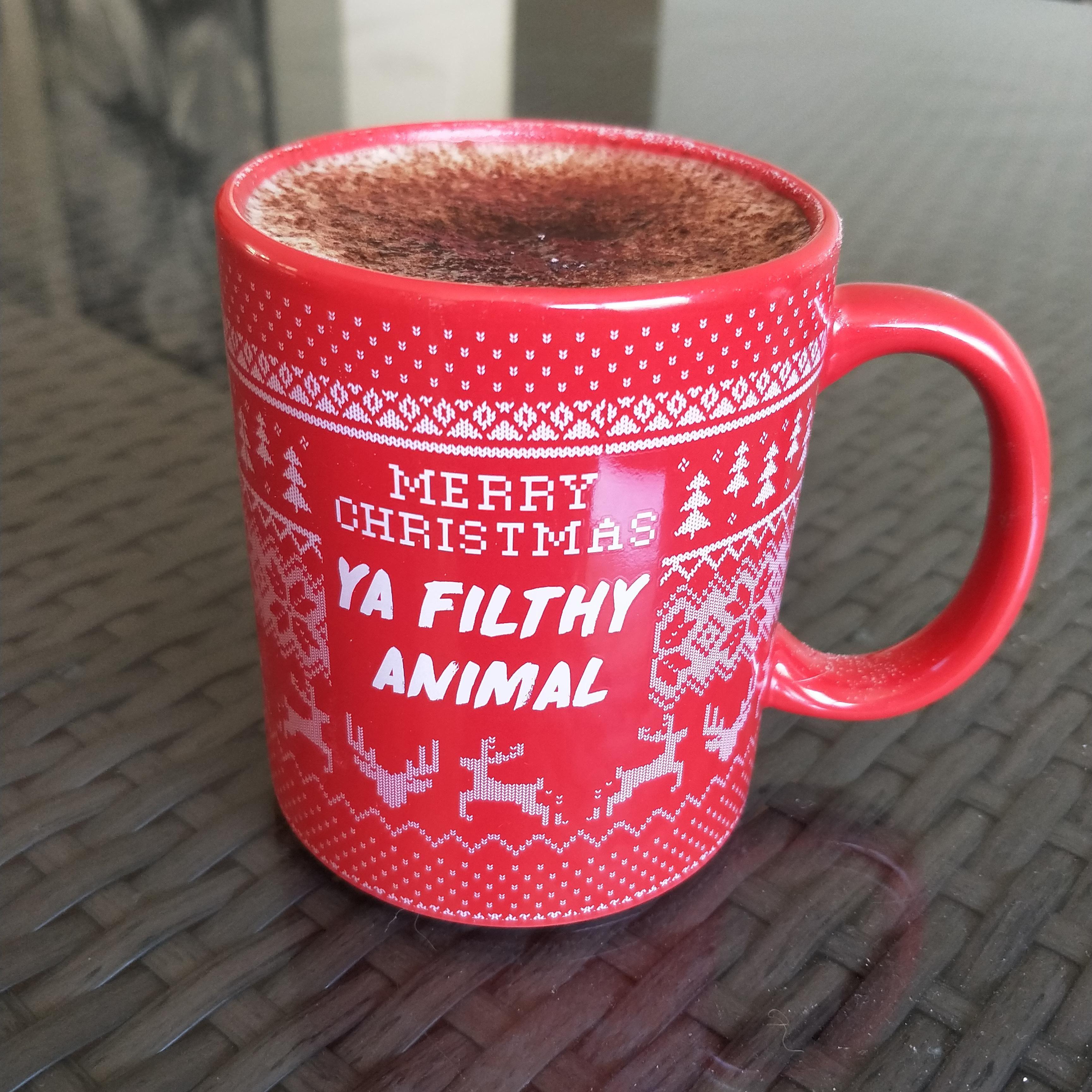 Cappuccino Amp And My New Christmas Mug Coffee Coffeemug Mug Cafe Espresso Photography Coffeeaddict Yummy Mugs Coffee Bean Grinder Christmas Mugs
