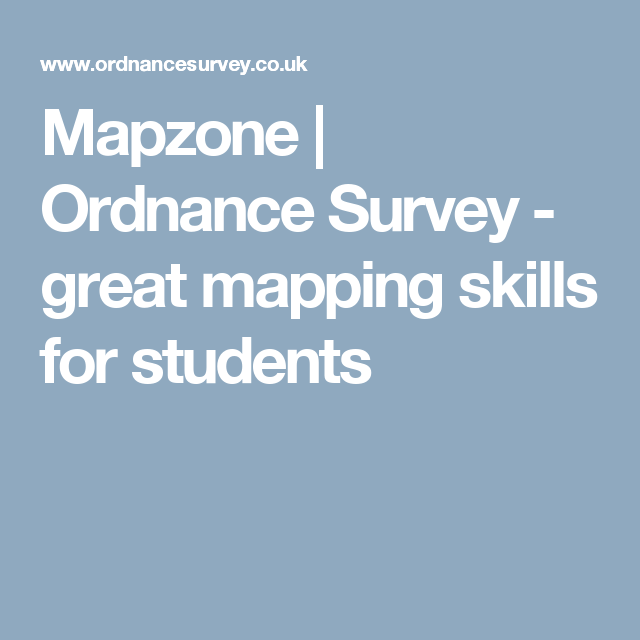 ordnance survey mapzone homework