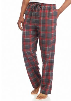 Saddlebred Oxford Big  Tall Plaid Heather Flannel Lounge Pants