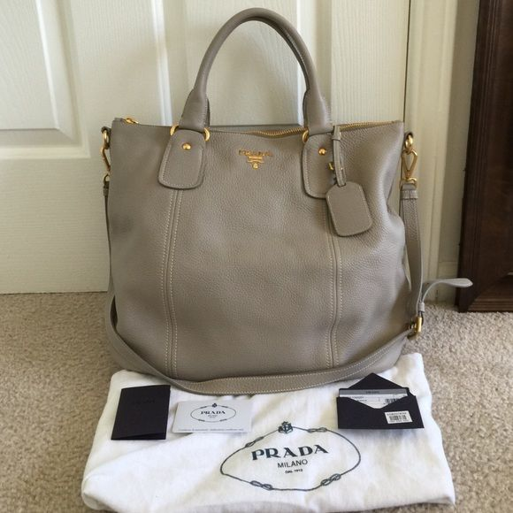Authentic Prada Sacca 2 Manici Tote Brand New Condition It Was Purchased In Nordstrom