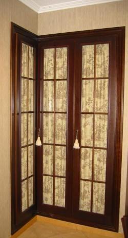 Puertas solo cristal y paliller a con tela armario en for Armario de pared con entrada equipada
