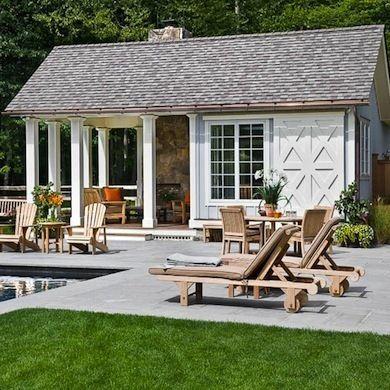 9 Incredibly Cool Pool Houses Small pool houses, Pool