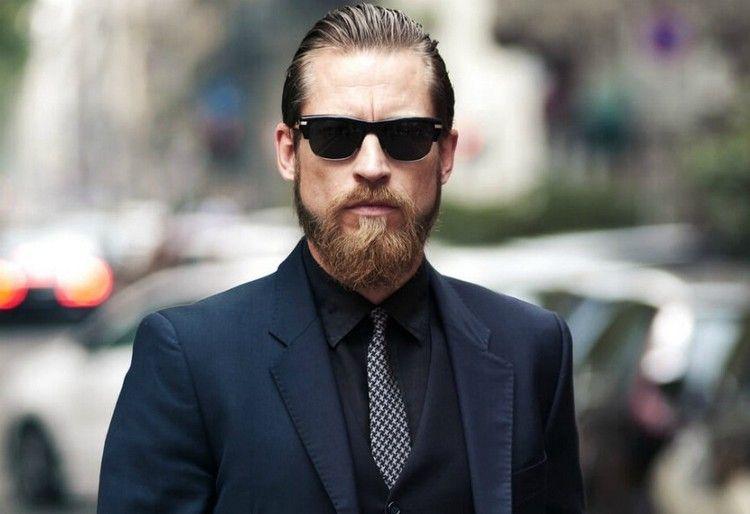 Trendfrisuren Für Männer Sleek Look Frisur Elegant Bart Kombinieren