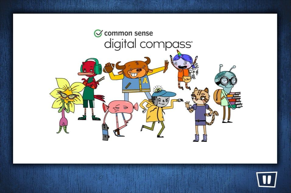Digital Compass: A game to teach your Middle School child digital responsibility.