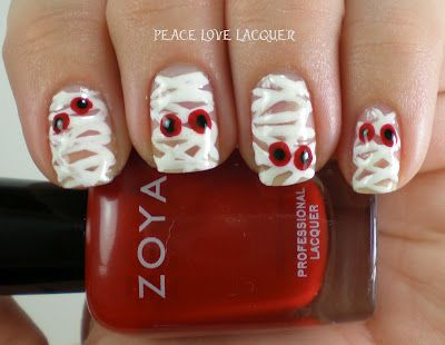 Halloween Mummie nails