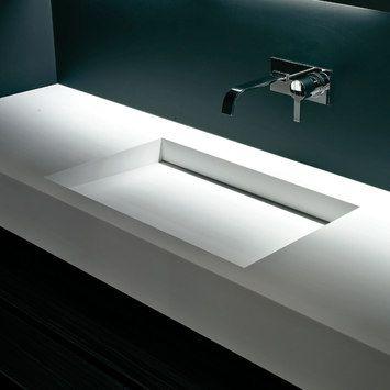 Simple and elegant corian sink Myslot XL by antoniolupi