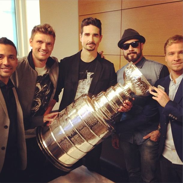 Backstreet Boys with the Cup