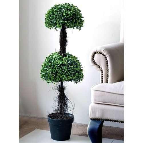 36' Artificial Boxwood Topiary Tree Plant *** Find out more about the great product at the image link.
