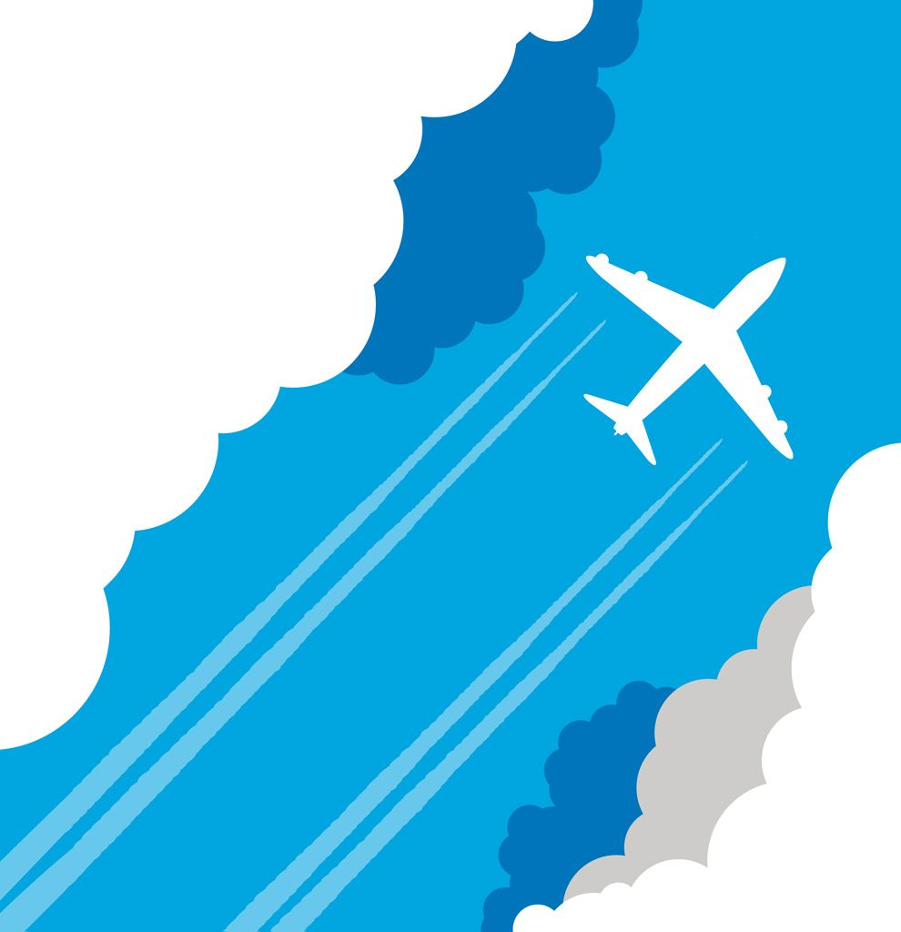 フリーイラスト素材 イラスト 乗り物 航空機 飛行機 旅客機 空