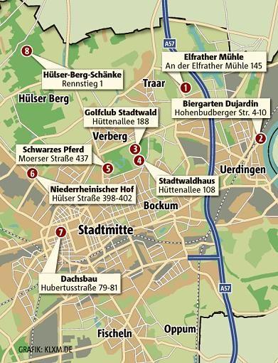 In der Übersichts-Grafik sehen Sie, wo die Biergärten im Stadtgebiet ...