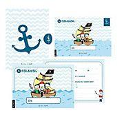 Photo of 12 invitation cards birthday boy (pirate)