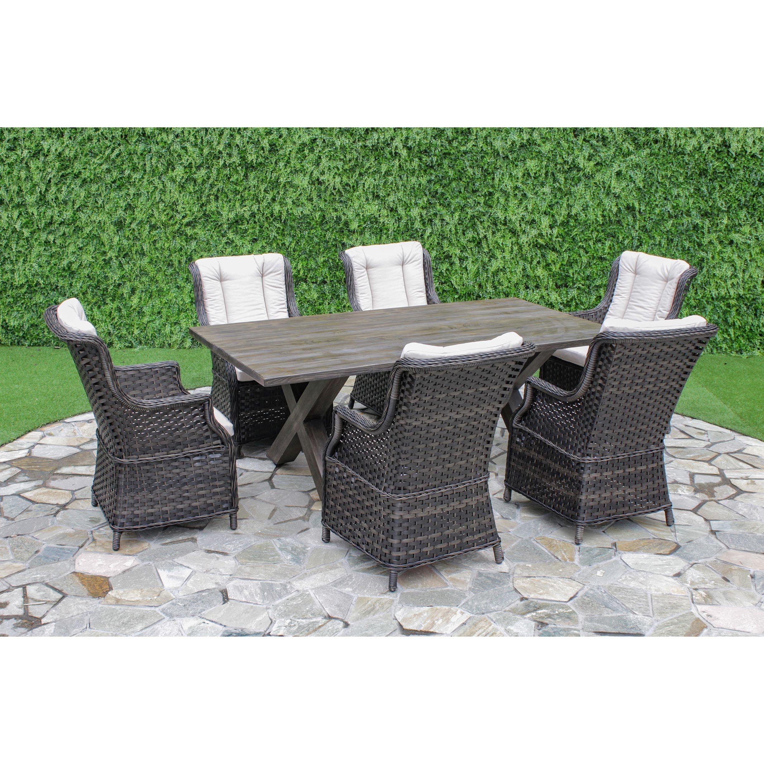 Patio Furniture 7 Piece Set palermo crossroads 7-piece outdoor dining set (palermo crossroads