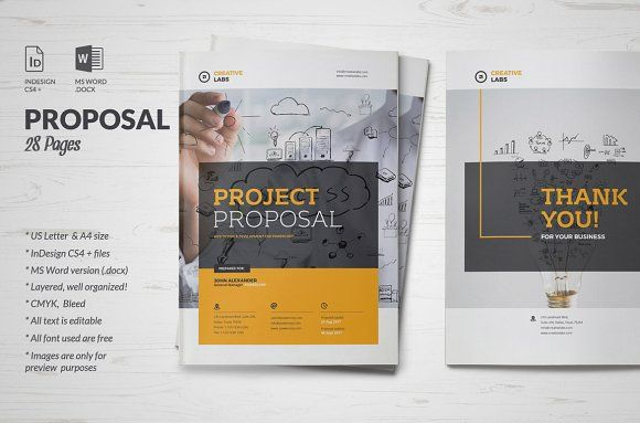 Proposal Pinterest Proposals, Brochures and Template - project proposal example