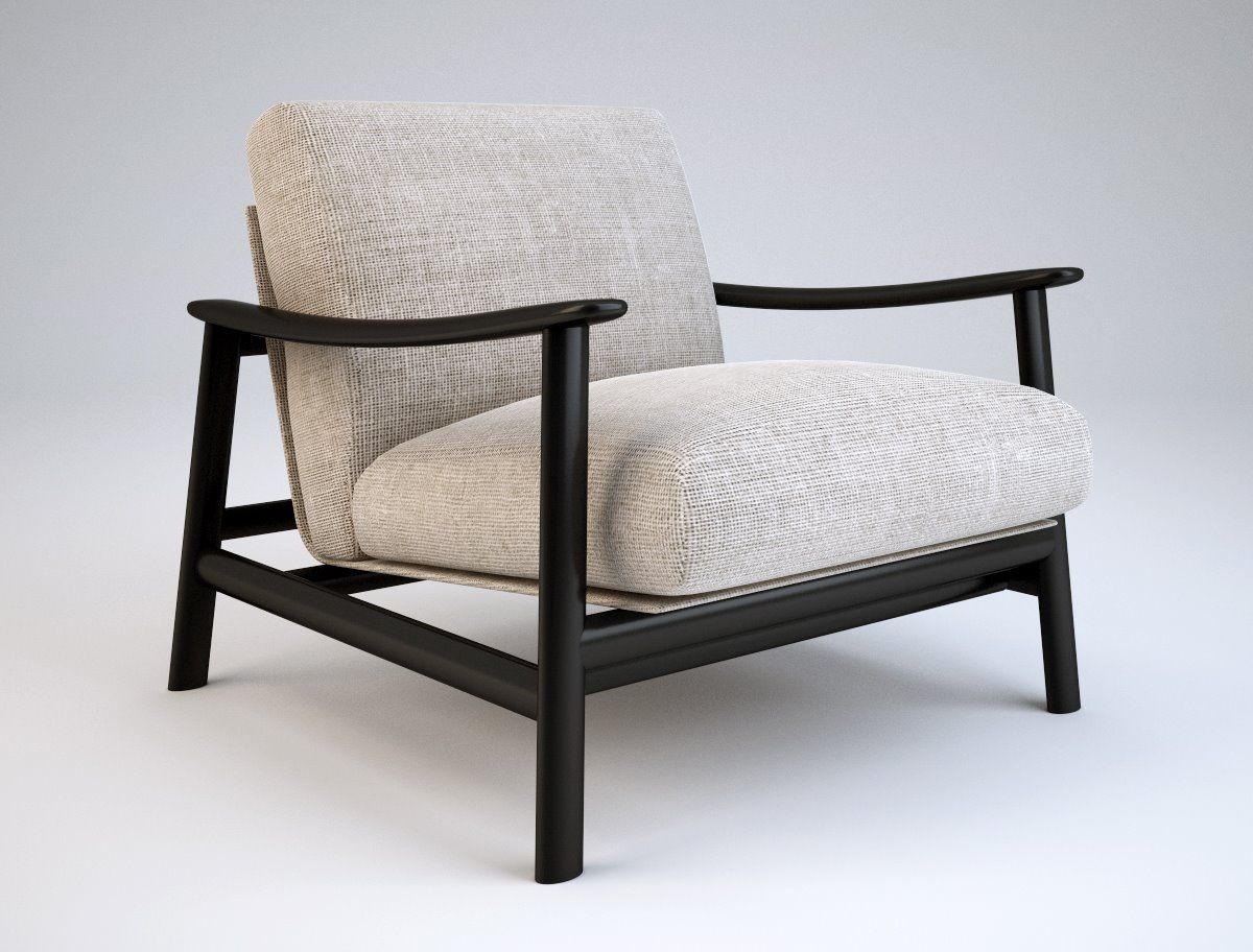 Zanotta Sushi Carlo Colombo 2005 Frame In Natural Or Wenge Stained Oak Cushion Holding Steel Frame Varnished Al Armchair Furniture Furniture Armchair Design