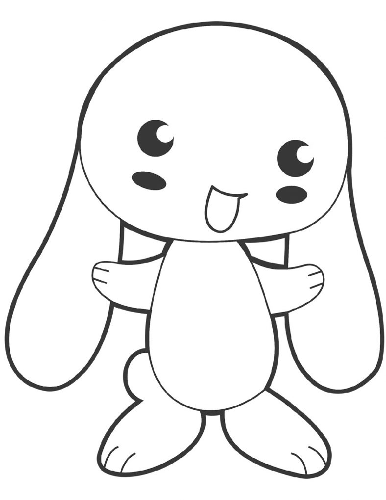 Simple and Detailed Bunny Coloring Pages | Bunny coloring ...