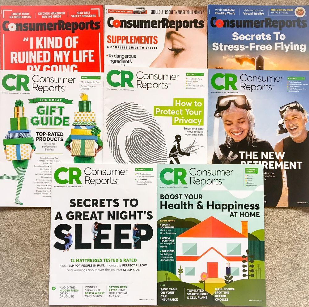 Consumer Reports (Aug 2016March 2017) 8 Issues In