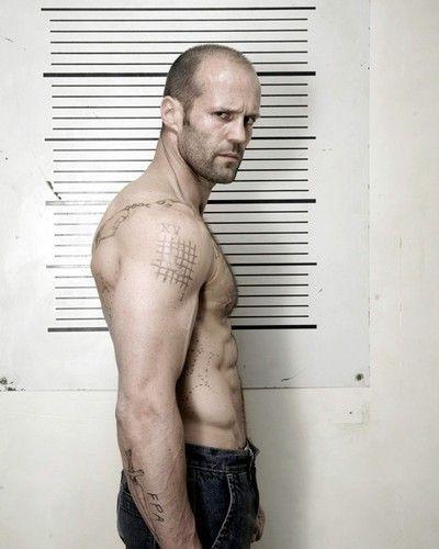 Jason Statham Barechested Hunky Profile Tattoo Portrait Poster And Photo 292416 Jason Statham Statham Jason Statham Body