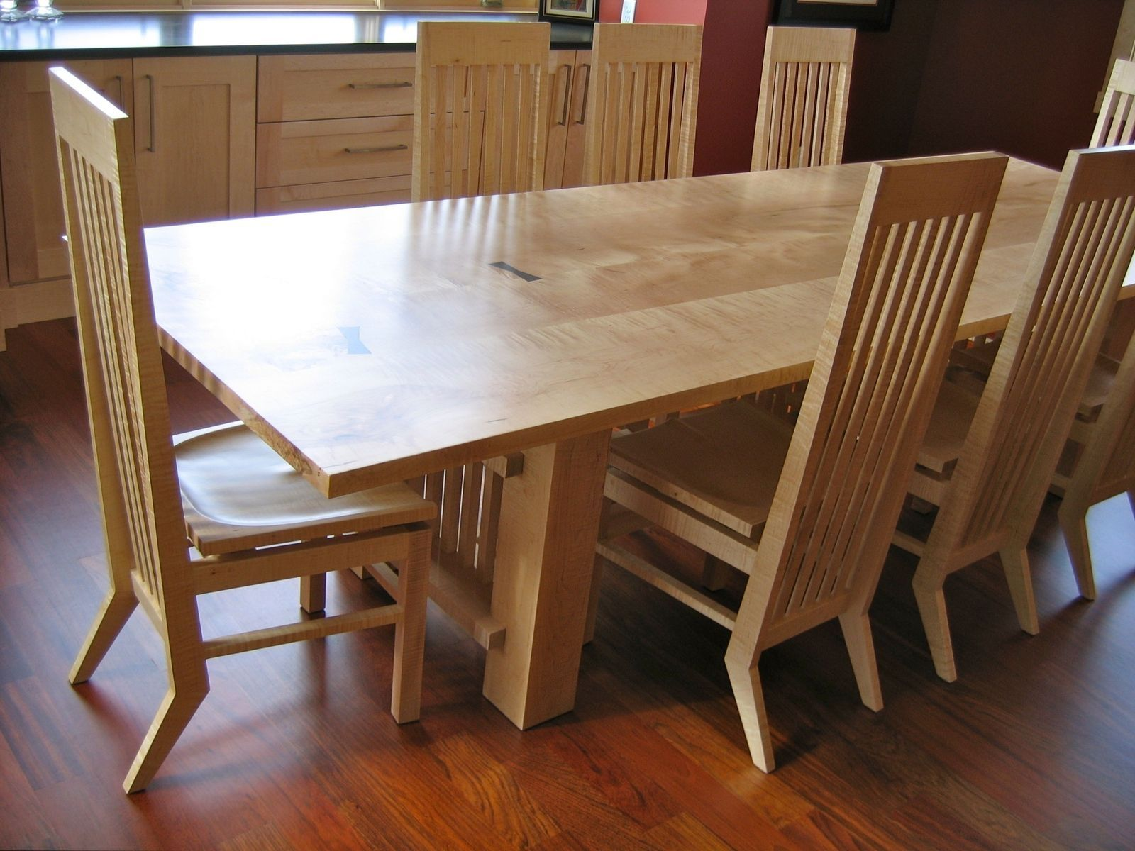 strong dining room chairs | Solid Maple Dining Table And Chairs - Dining room ideas