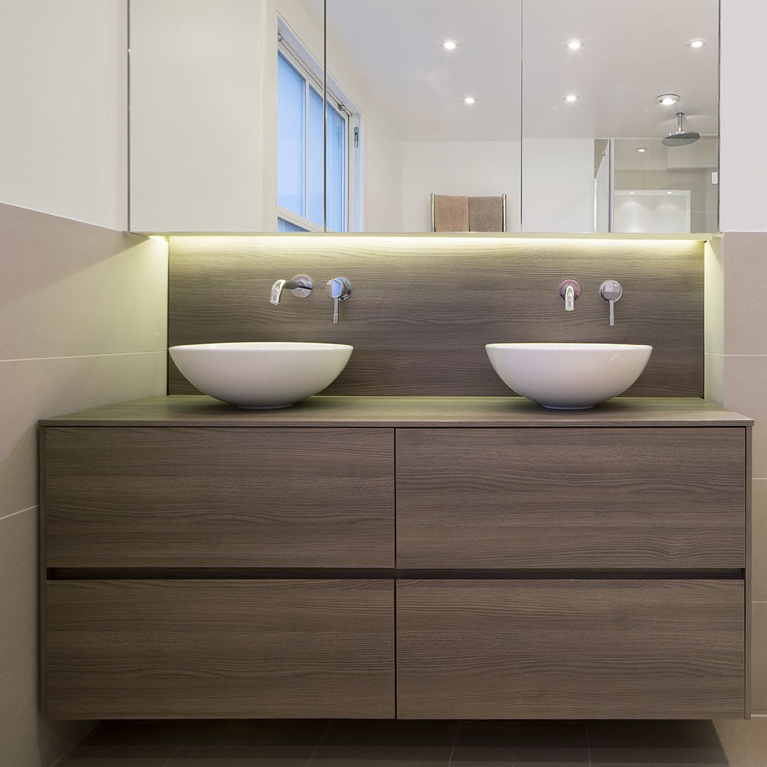 Dica Baño Con 2 Lavabos Sinks Bathroom Countertop Basinbasin Cabinetbathroom