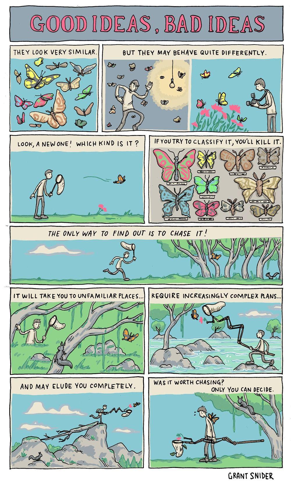 Good Ideas Are Worth Chasing Comic Writing Humor Comics Life Comics