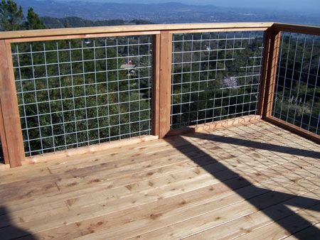 Square Wire Panels Deck Railings Wire Deck Railing Railings Outdoor
