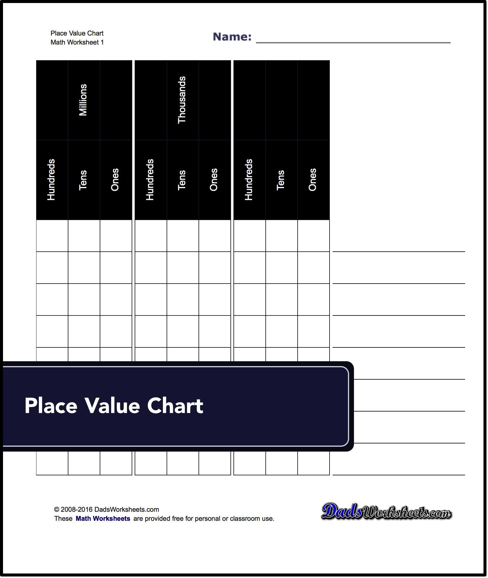 This Page Has Some Of The Best Printable Place Value