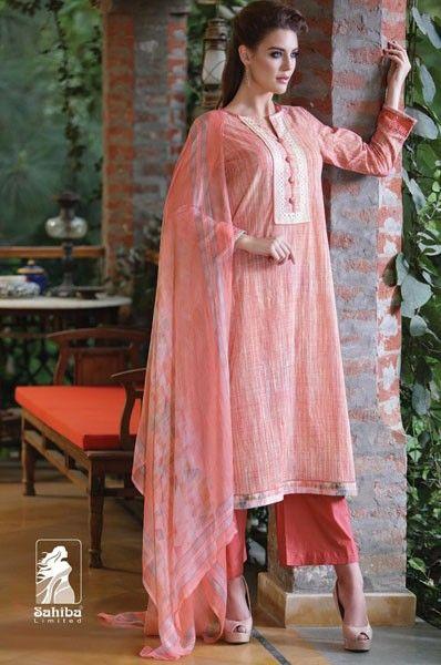 Party Wear Peach Cotton Palazzo Suit