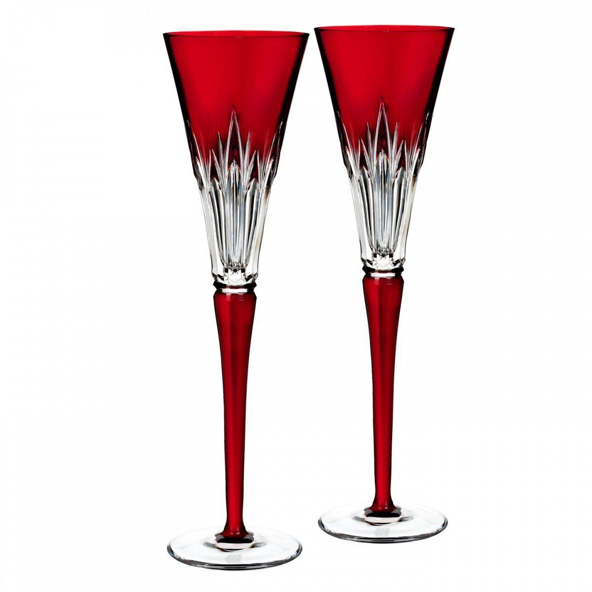 Waterford Times Square Wonder Ruby Flute Pair For More Information Visit Now Glassware Drinkware Waterford Waterford Crystal Crystal Flutes