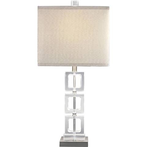 Table Lamp, Crystal Square Base Table Lamp