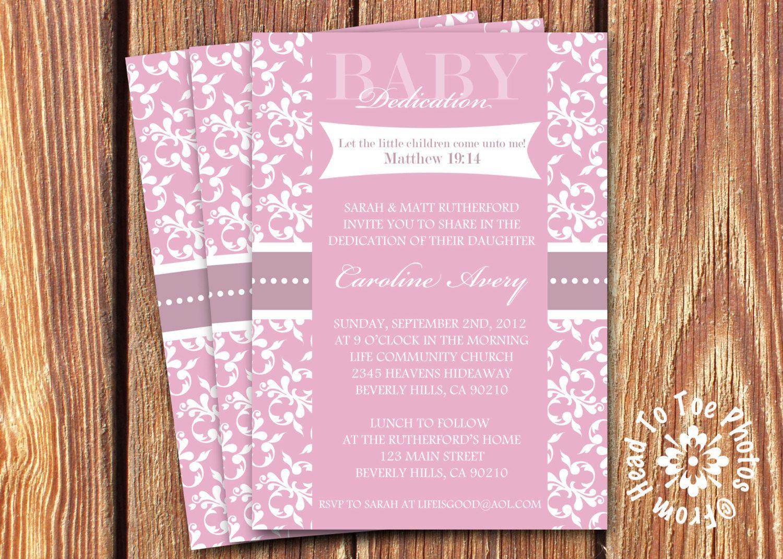 Baby Dedication Invitations # Pin++ for Pinterest # | Head to Toe ...