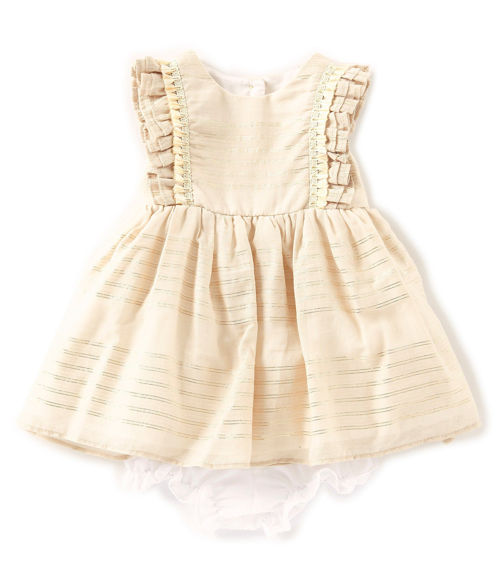 ad9bcbc0a01 Shop for Pippa   Julie Baby Girls Newborn-24 Months Flutter-Sleeve Striped  Dress at Dillards.com. Visit Dillards.com to find clothing