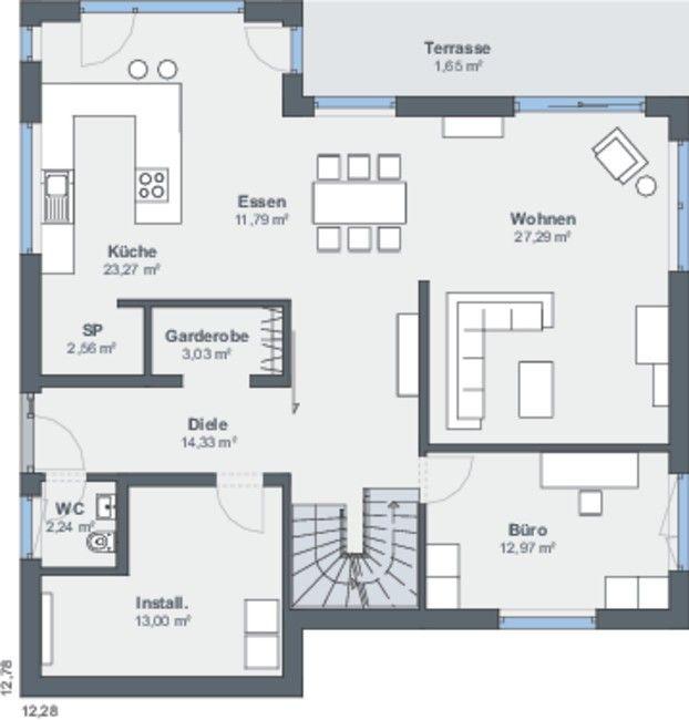 vorraum gr er alles etwas in die breite oben das mittlere zimmer weg als oberes wohnzimmer. Black Bedroom Furniture Sets. Home Design Ideas