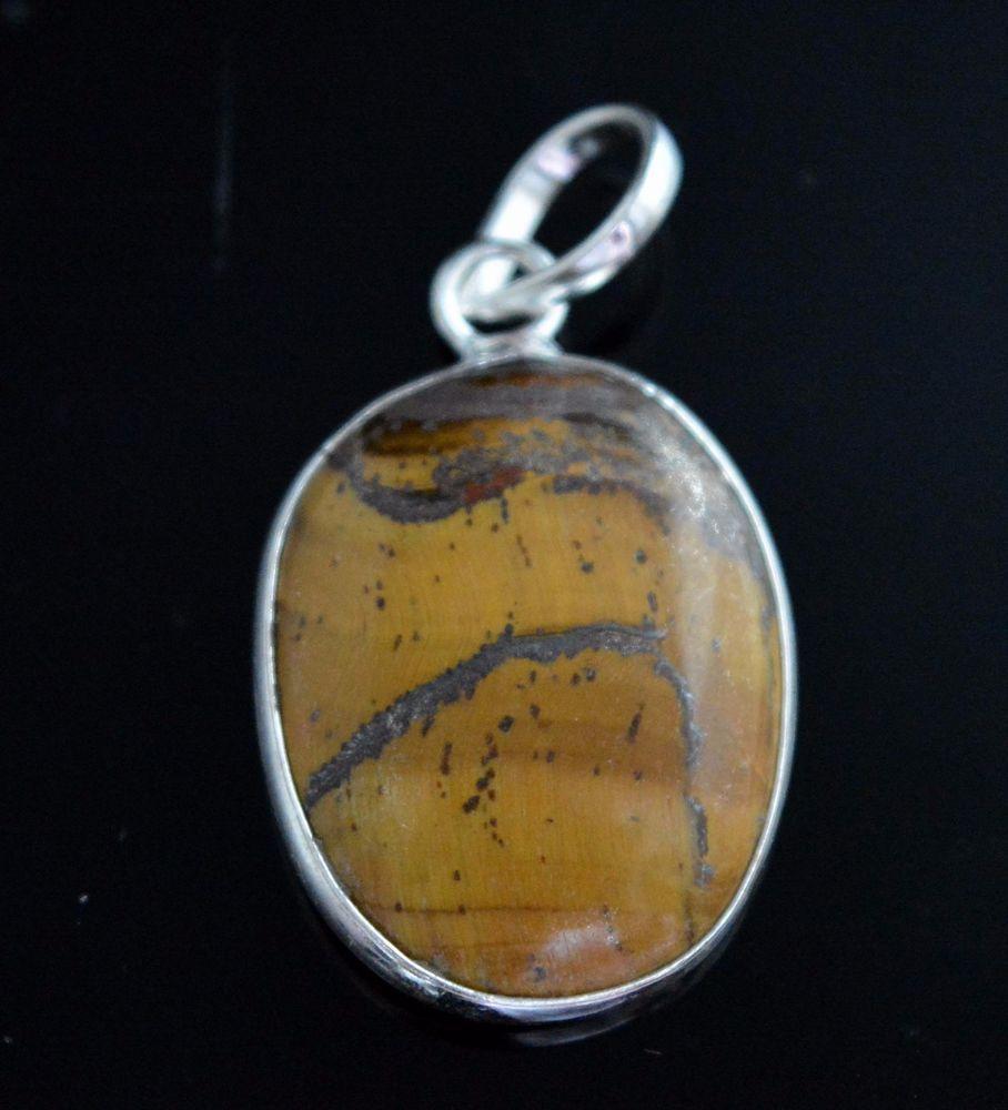 Glamorous Natural Tiger Eye 925 Silver Plated Pendant Gift Ideas For Her E686 #valueforbucks #Pendant