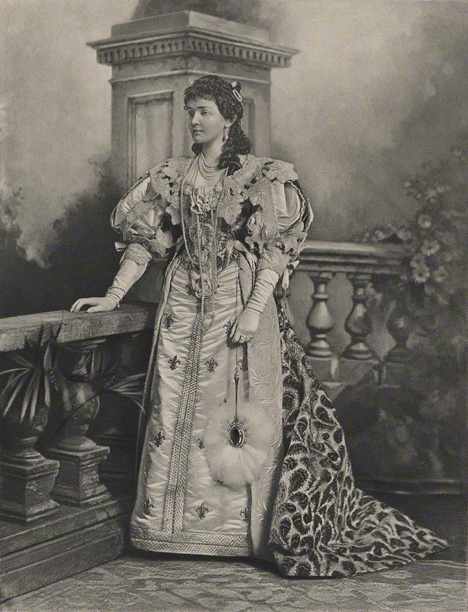 1897. The Devonshire House Jubilee Costume Ball.  Princess Louise, Duchess of Connaught, dressed as Anne of Austria (mother of Louis XIV).