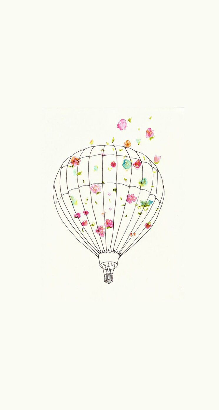 Cute hot air balloon ★ Download more Girly iPhone Wallpapers at @prettywallpaper