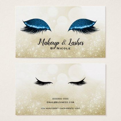 Photo of Blue Sparkle Makeup Glamour Wimpern Wimpern