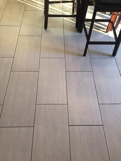 Kitchen Floor Horizontal Brick Pattern With Tec Power Grout