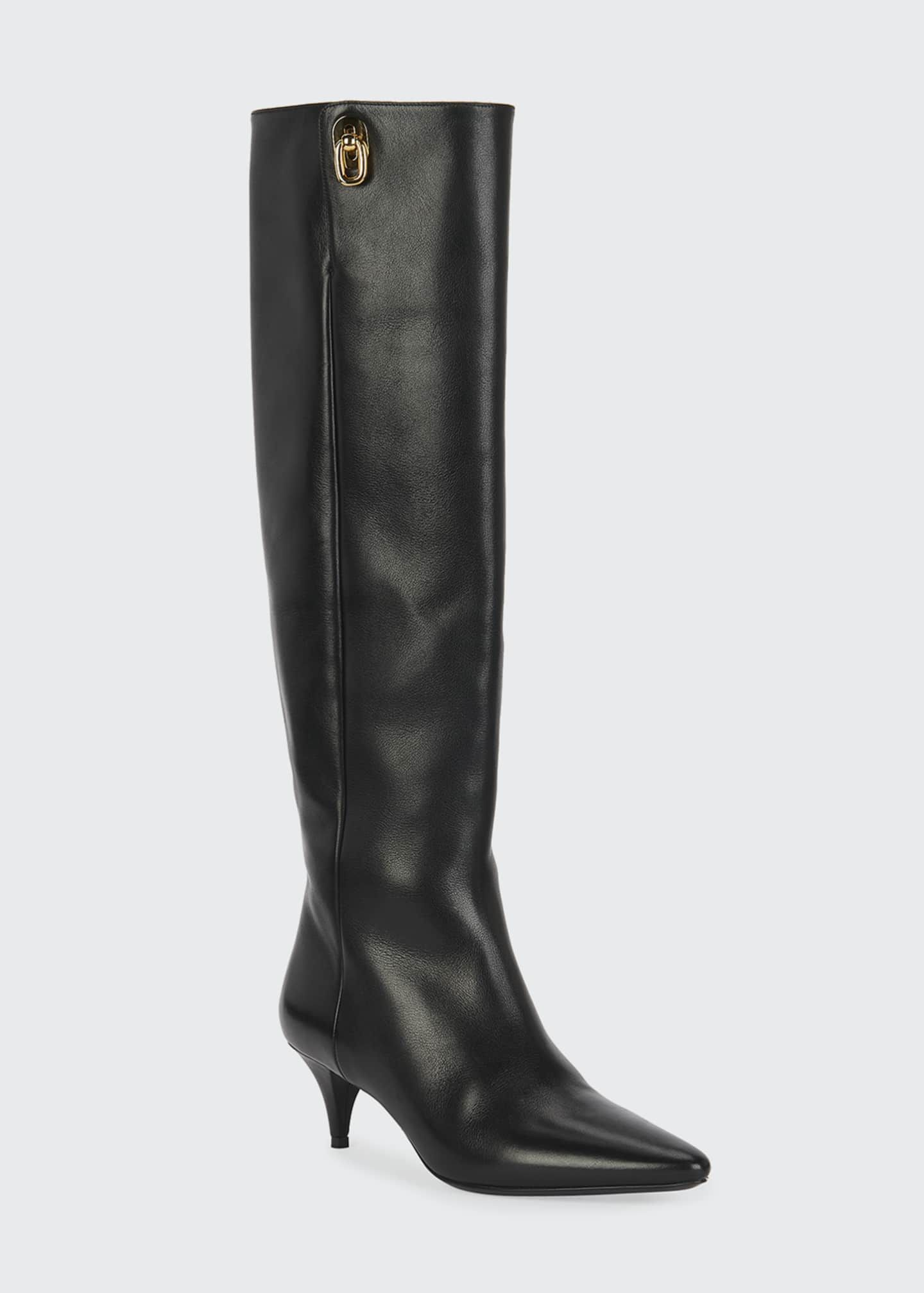 Tom Ford Kitten Heel Knee Boots In 2020 Boots Knee Boots Kitten Heels