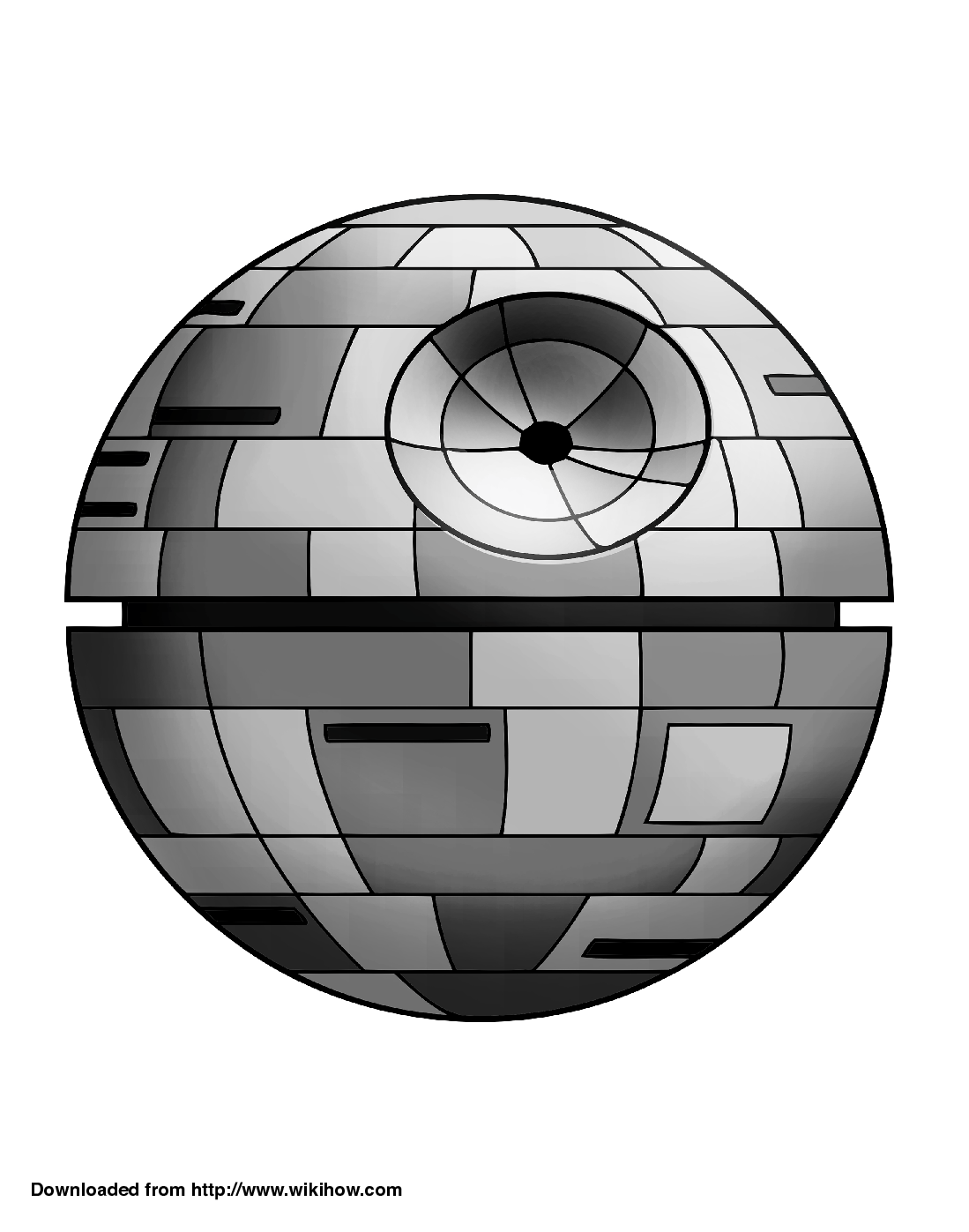 Printable Death Star Pumpkin Template - wikiHow | cake how to stuff ...