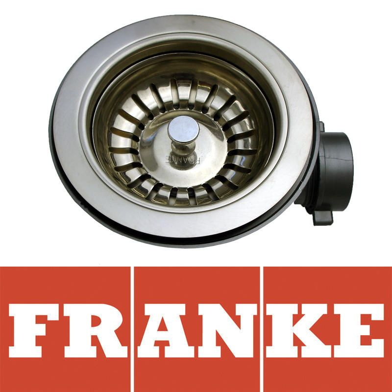 Franke 90mm Polished Steel Kitchen Sink Basket Strainer Waste 112 0036 234