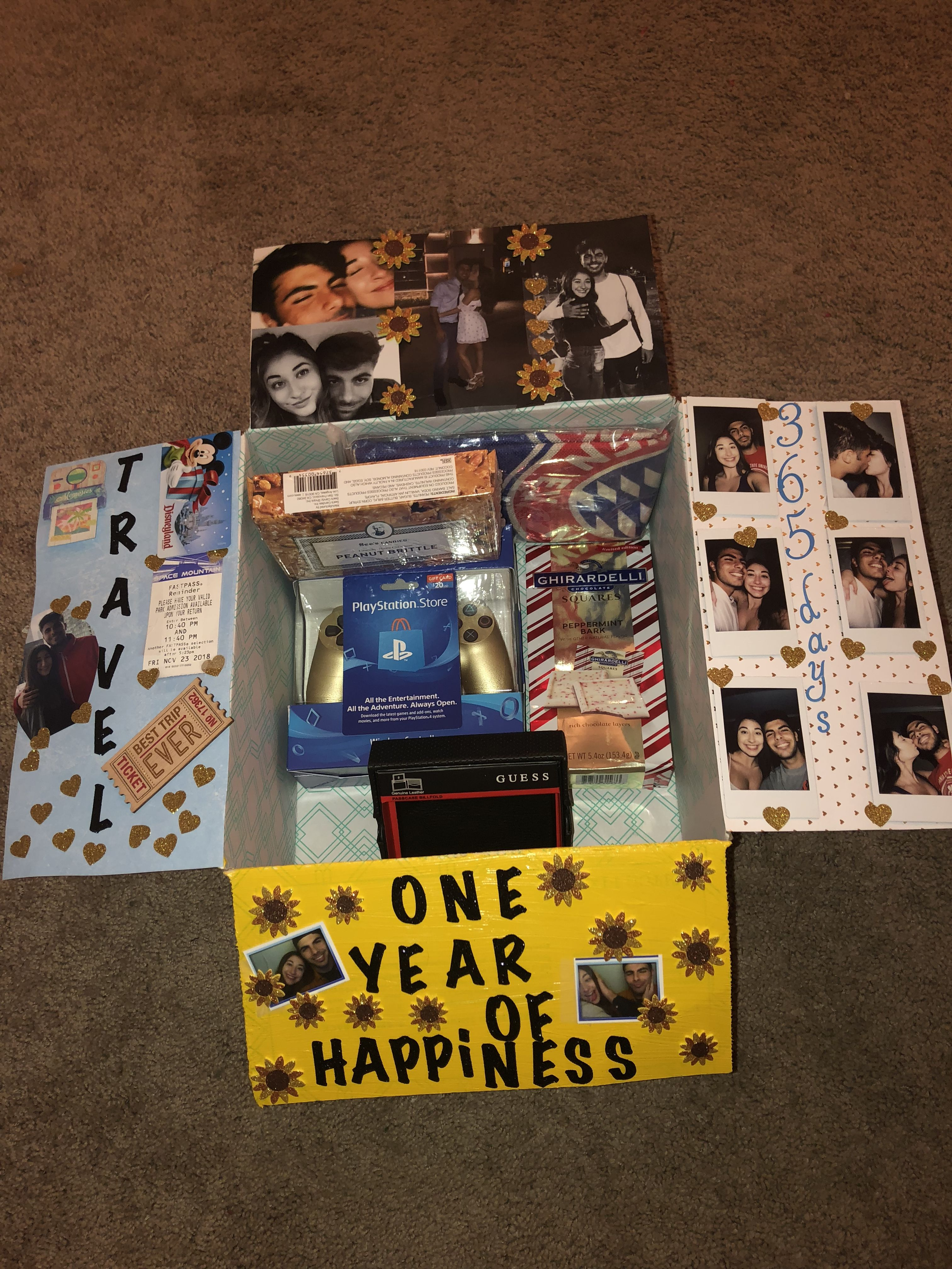 One Year Anniversary Boyfriend Anniversary Gifts Cute