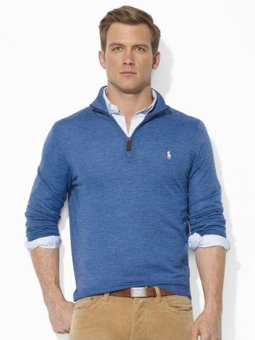 Merino Wool Half-Zip Sweater - Polo Ralph Lauren Shawl   Turtleneck -  RalphLauren.com  125 4b37ae12c5
