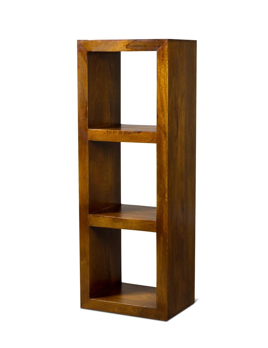 Dakota Mango Triple Storage Cube Cube Storage Small Sideboard Small Bookcase [ 1200 x 926 Pixel ]