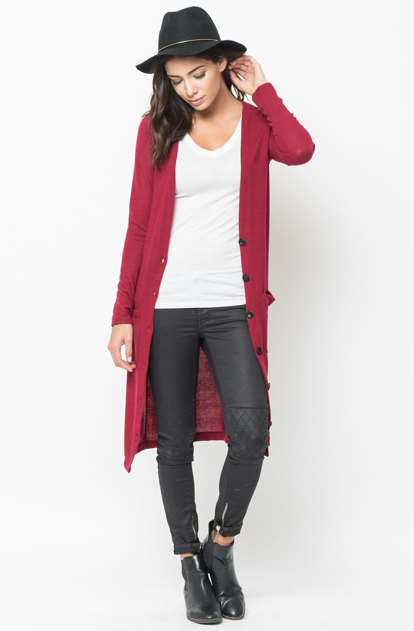 Maxi Cardigan Cozy button-down everyday cardigan from Caralase ...