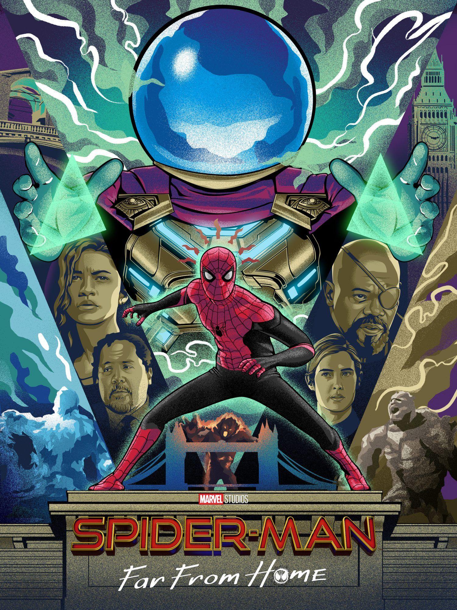 SpiderMan Far From Home (2019) [1500 x 2000] Heróis
