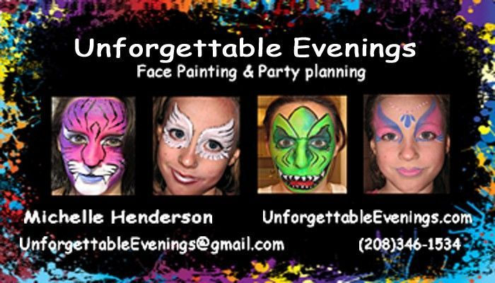 New Business Card What Do You Think Face Painting Twisting Balloons Business Card Design