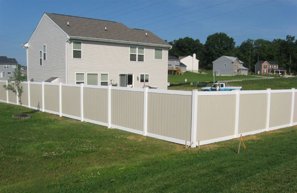 6 Two Tone Vinyl Privacy Fence Vinyl Privacy Fence